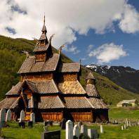 Церковь в Боргунде (Borgund stavkyrkje). 12 век