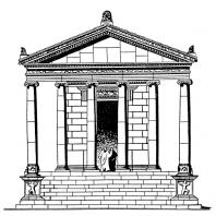 Храм в Гарни. Реконструкция