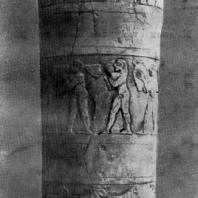 Ваза с изображением культовых сцен из Урука. Алебастр. Период Джемдет-Наср. Около 3000 г.тыс. до н. э. Багдад. Иракский музей