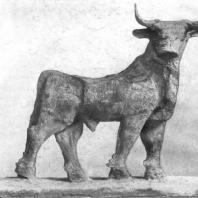 Статуэтка быка из Эль-0бейда. Медь. Около 2600 г. до н. э. Филадельфия. Музей