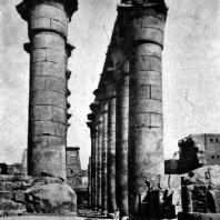 Колоннада зодчего Аменхотепа. Храм в Луксоре. Фивы. XVIII династия. Конец 15 в. до н. э.