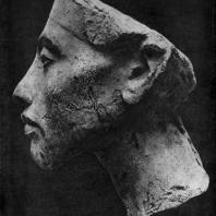 Голова фараона Эхнатона. XVIII династия. Начало 14 в. до н. э. Берлин