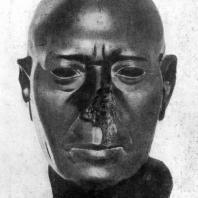 Голова жреца из Мемфиса. Зеленый шифер. 5 в. до н. э. Берлин