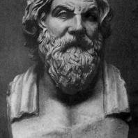 Деметрий из Алопеки. Портрет философа Антисфена. Около 375 г. до н. э. Мраморная римская копия с утраченного оригинала. Рим. Ватикан