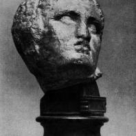 Скопас. Голова раненого воина с западного фронтона храма Афины-Алеи в Тегее. Мрамор. Первая половина 4 в. до н. э. Афины. Национальный музей