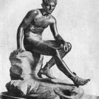 Лисипп. Отдыхающий Гермес. Третья четверть 4 в. до н. э. Бронзовая римская копия с утраченного оригинала. Неаполь. Национальный музей