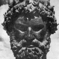 Круг Лисиппа, возможно, Лисистрат. Голова кулачного бойца из Олимпии. Бронза. Около 330 г. до н. э. Афины. Национальный музей