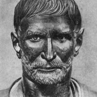 Портрет римлянина (так называемый первый консул Брут). Бронза. Вторая половина 4 в. до н. э. Рим. Палаццо Консерватори