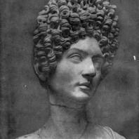 Женский портрет времени Флавиев. Мрамор. Конец 1 в. н. э. Рим. Капитолийский музей