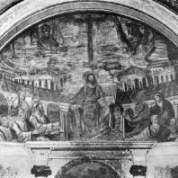 Алтарная мозаика церкви Санта Пуденциана в Риме. Около 400 г. Частично реставрирована