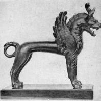 Фантастический зверь. Бактрийская бронзовая статуэтка. 4 в. до н. э. Лондон. Британский музей