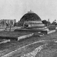 Большая ступа в Санчи. 3 в. до н. э.