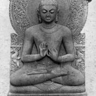 Статуя Будды из Сарнатха. Песчаник. Высота 1,60 м. 5 в. н. э. Сарнатх. Музей